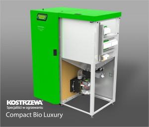 Kostrzewa Compact Bio Luxury 16/24 kW - lambda szondával szerelt melegvizes vegyes és pellet tüzelésű kazán