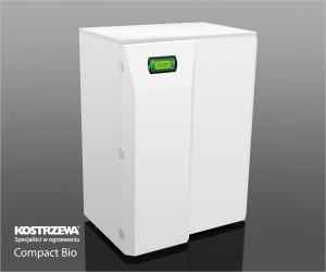 Kostrzewa Compact Bio 16/24 kW - pellet és vegyes tüzelésű kazán rendelhető fehér színváltozatban