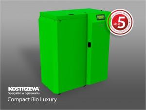 Kostrzewa Compact Bio Luxury 16/24 kW - lambda szondával szerelt melegvizes vegyes és fatüzelésű kazán