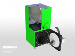Kostrzewa Mini Bio 10/20 kW - pellet kazán beépített pellet tárolóval, automata égőfejjel és csöves hőcserélőkkel
