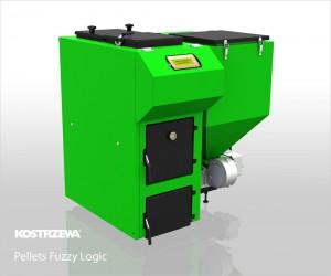 Kostrzewa Pellets Fuzzy Logic 15-100 kW - vegyes és pellet tüzelésű kazán lambda szondával