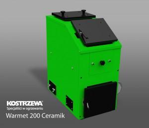 Kostrzewa Warmet 200 Ceramik 18-32 kW - vegyes tüzelésű kazán kerámia betéttel és füstgáz ventilátorral