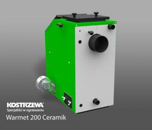 Kostrzewa Warmet 200 Ceramik 18-32 kW - vegyes tüzelésű kazán, kerámia betéttel és füstgáz ventilátorral