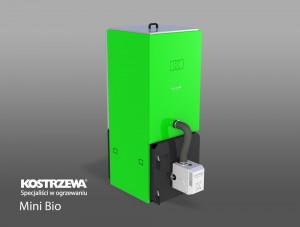 Kostrzewa Mini Bio 10/20 kW - pellet kazán beépített pellet tárolóval