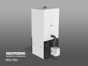 Kostrzewa Mini Bio 10/20 kW - pellet kazán beépített pellet tárolóval és rendelhető fehér színben