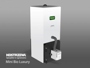 Kostrzewa Mini Bio Luxury 10/20 kW - automata pellet kazán lambda szondával, rendelhető fehér színben