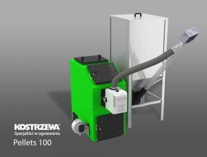 Kostrzewa Pellets 100 16-40 kW - pellet tüzelésű kazán